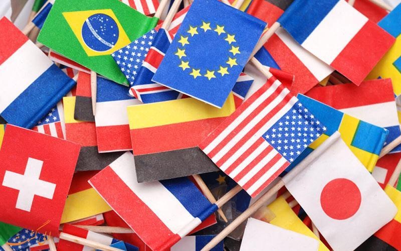 آیا معنای پرچم کشورهای مختلف را می دانید؟