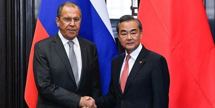 رایزنی وزرای خارجه چین و روسیه در زمینه آخرین تحولات منطقه و دنیا
