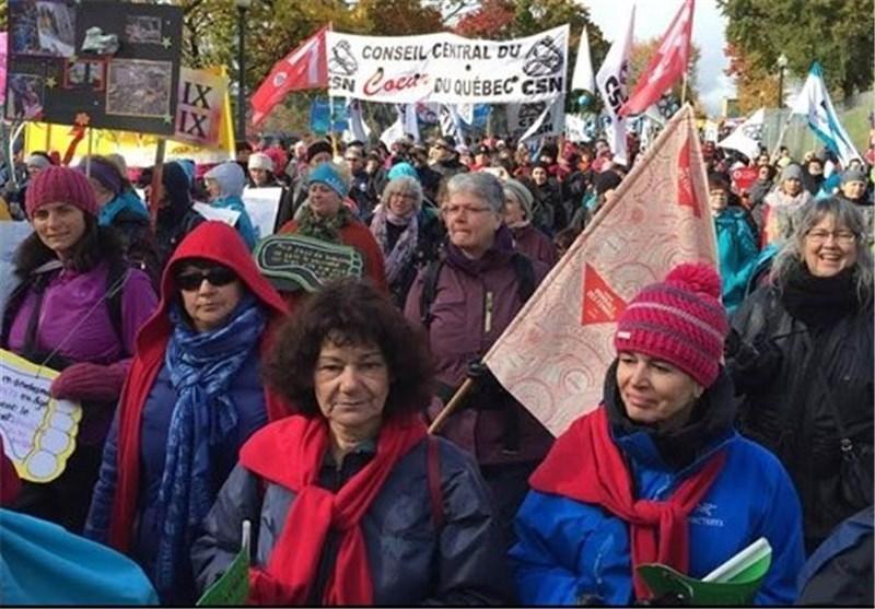 تظاهرات هزاران زن کانادایی در اعتراض به خشونت