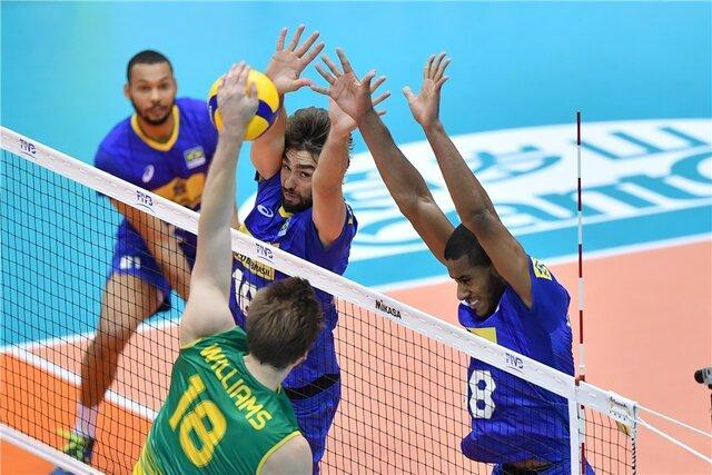 صدرنشینی برزیل تا خاتمه روز دوم جام جهانی والیبال