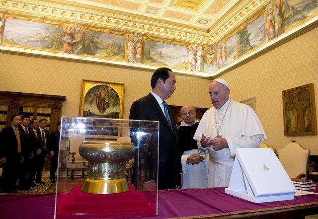 رئیس جمهور ویتنام به دیدار پاپ رفت