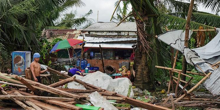 وقوع طوفان فان فون در آستانه کریسمس فیلیپینی ها را آواره کرد