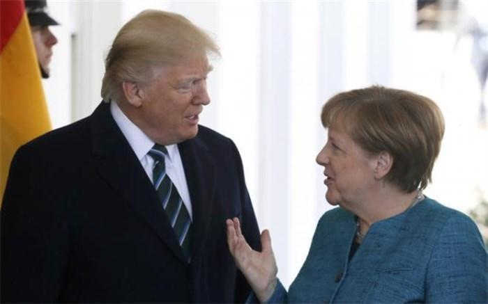 ماجرای پرتاب شکلات ترامپ به طرف صدر اعظم آلمان!