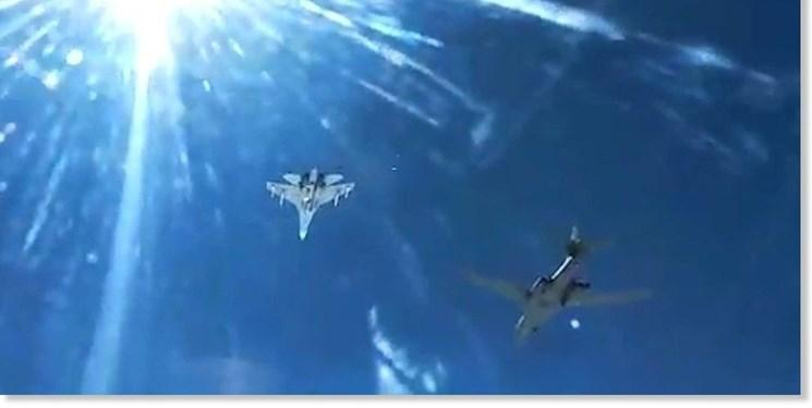 فیلم ، روسیه بمب افکن بی -1 آمریکا را رهگیری کرد