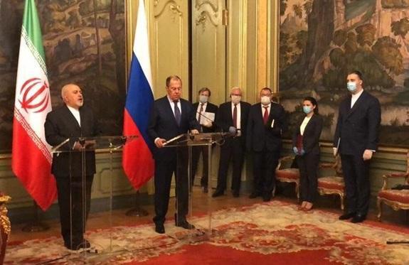 ظریف: ایران و روسیه مصمم به مقابله با رویکرد های یک جانبه برای بحران های جهانی هستند
