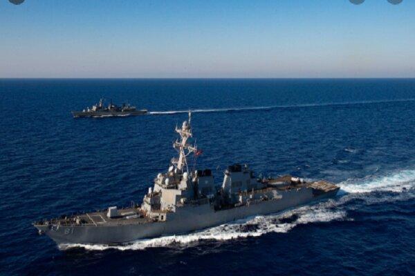 پکن: ناو متجاوز آمریکایی را از دریای چین جنوبی بیرون کردیم