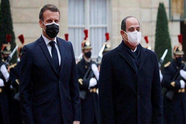 جنجال میان ماکرون و سیسی درباره موضوع حقوق بشر در مصر
