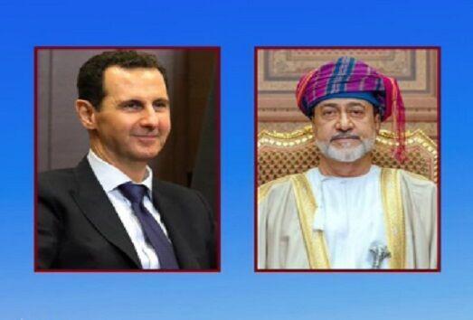 خبرنگاران پادشاه عمان روز استقلال سوریه را به اسد تبریک گفت