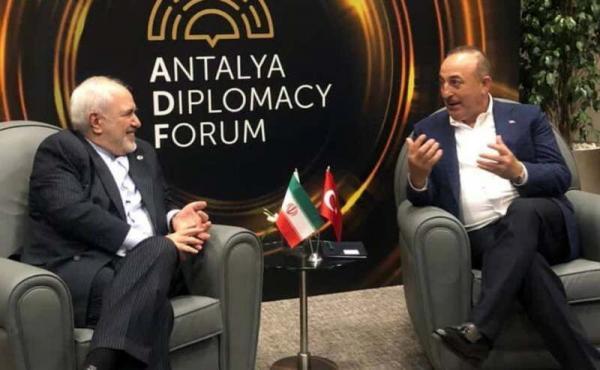 ملاقات ظریف با وزیر امور خارجه ترکیه